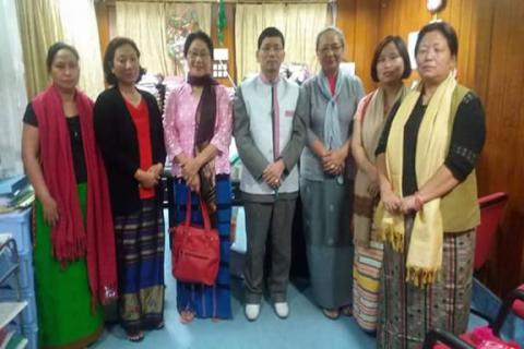Team of APWWS met the former Hon'ble Chief Minister of Arunachal Pradesh on 17th March 2016 and submitted a memorandum