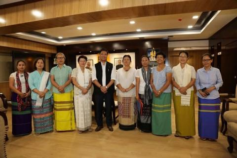 CEC team giving curtsy visit to Hon'ble Chief Minister of Arunachal Pradesh Shri Pema Khandu on 5th Sept' 2016